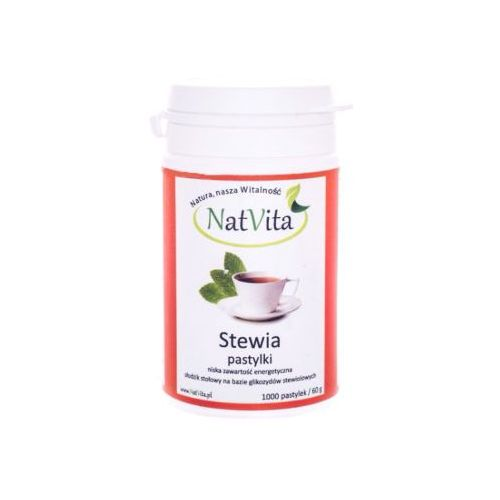 Stewia stevia pastylki 60mg 1000 szt. NatVita (5907377283584) - OKAZJE