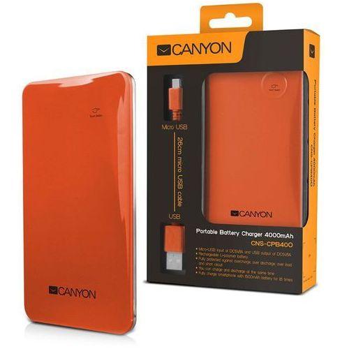 Canyon Powerbank 4000 mah cns-cpb40 slim 1a usb pomarańczowy + odbiór w 650 punktach stacji z paczką!