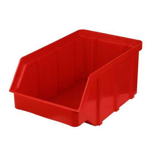 Plastikowy pojemnik warsztatowy - wym. 156 x 100 x 756 - kolor czerwony