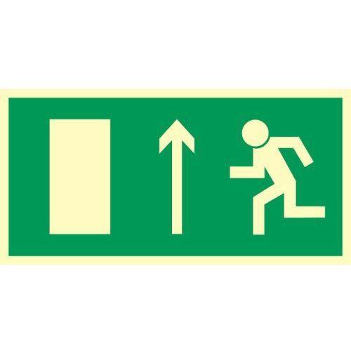 Znak Kierunek ewakuacji do wyjścia strz. w górę