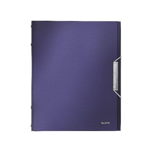 Teczka segregująca style 6 przegródek 200 kartek tytanowy błękit 39950069 marki Leitz