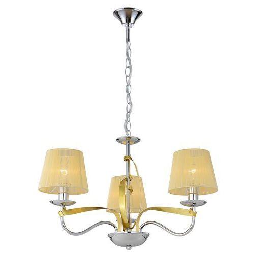 Candellux Lampa wisząca zwis żyrandol diva 3x40w e14 chrom/miedź 33-55057