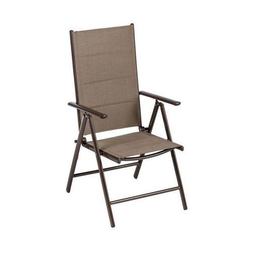 Naterial Krzesło ogrodowe niagara aluminiowe brązowe
