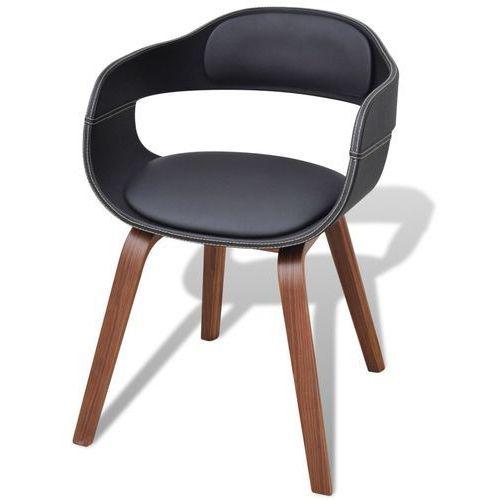 vidaXL Krzesło do jadalni, nogi z giętego drewna, eko-skóra (8718475925163)