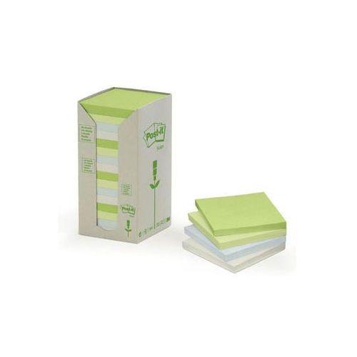 POST-IT Bloczek ekologiczny TOWER, 76 x 76mm, pastel, 16 sztuk po 100 kartek