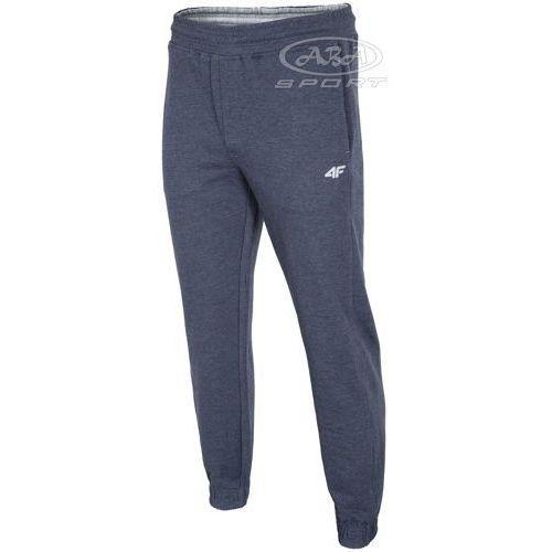 Spodnie dresowe męskie SPMD001 4F - Granatowy, kolor niebieski