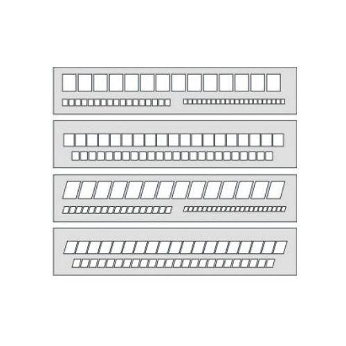 Szablony techniczne Szablon okienkowy prosty 20mm/7,5mm/5mm x1