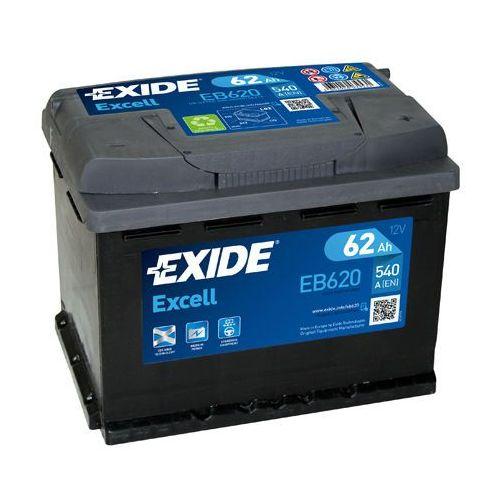 Akumulator Exide 62Ah 540A EB620 P+ Excell
