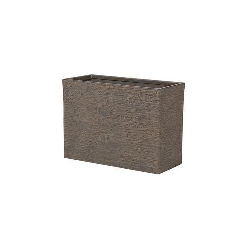 Doniczka ciemnobrązowa prostokątna 29 x 70 x 50 cm EDESSA