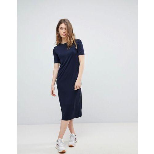 Weekday column midi dress - navy