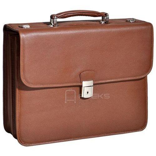 """McKlein Ashburnteczka skórzana / torba na laptopa 15,4"""" / brązowa - brązowy (6421541514452)"""