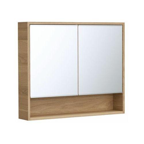 Szafka lustrzana bez oświetlenia NATURAL 90 x 75 x 16 SENSEA (3276000695257)