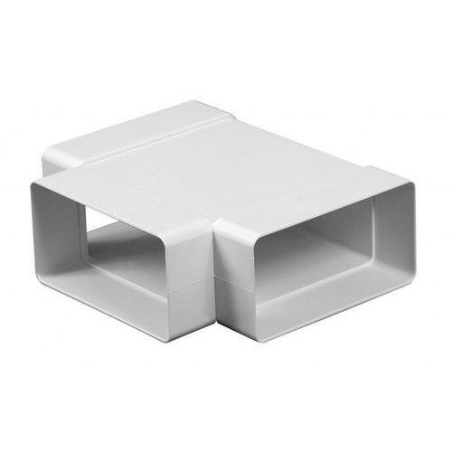Trójnik poziomy kanałów płaskich wentylacyjnych ABS Awenta KP55-26 - 55x110
