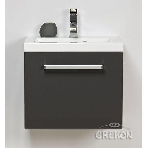 Szafka wisząca z umywalką kolor szary 50/39 seria fokus sz marki Gante