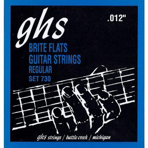 brite flats struny do gitary elektrycznej, regular,.012-.054 marki Ghs