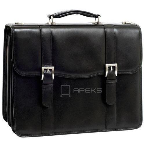"""Mcklein flournoy skórzana teczka / torba na laptopa 15,4"""" - czarny (6421548595560)"""