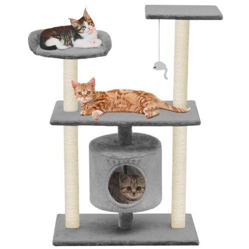 vidaXL Drapak dla kota ze sizalowymi słupkami, 95 cm, szary (8718475598190)