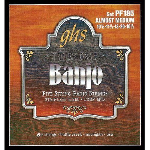 GHS Professional struny do banjo, 5-str. Loop End, Stainless Steel, Almost Medium,.0105-.020