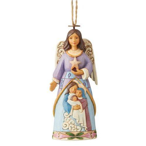 Jim shore Anioł szopka święta rodzina zawieszka nativity angel (hanging ornament) 6004316 figurka ozdoba świąteczna gwiazdor