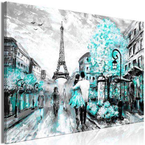 Obraz - Kolorowe rendez-vous (1-częściowy) szeroki turkusowy