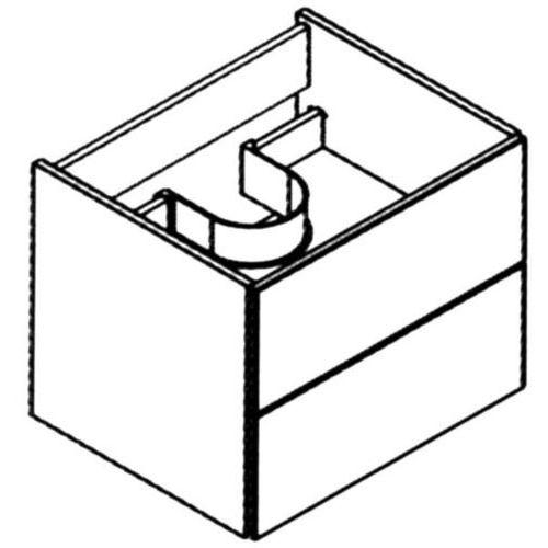 Szafka łazienkowa BIAŁA 60 cm Lanzet M9 7204312 - Biały wysoki połysk \ 60 cm