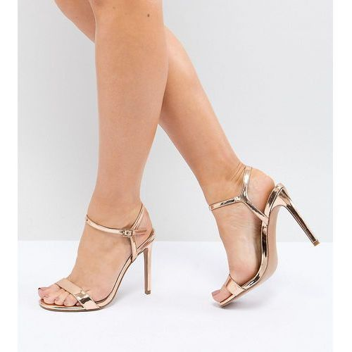 Asos design hands down extra wide fit barely there heeled sandals - gold