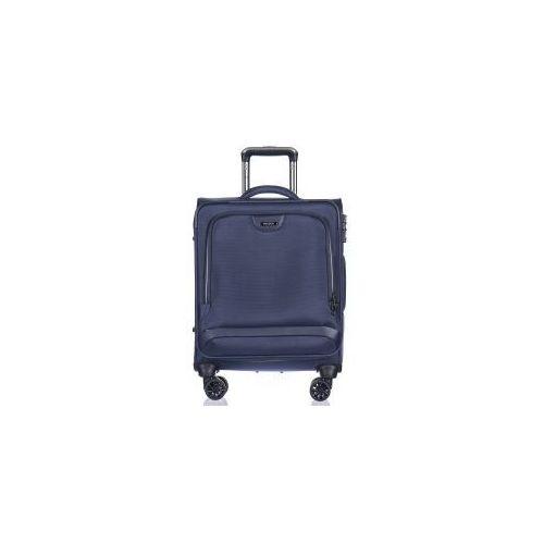 walizka mała/ kabinowa em50420 z kolekcji copenhagen 4 koła miękka zamek szyfrowy tsa nylon marki Puccini