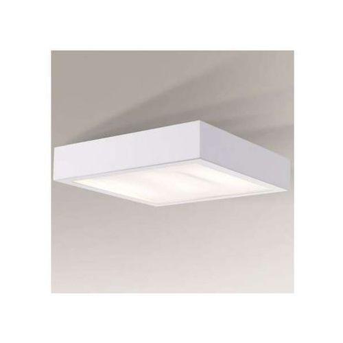 Plafon lampa sufitowa nomi 1151/2g11/bi minimalistyczna oprawa kwadratowa biała marki Shilo