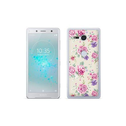 etuo Fantastic Case - Sony Xperia XZ2 Compact - etui na telefon Fantastic Case - pastelowe różyczki