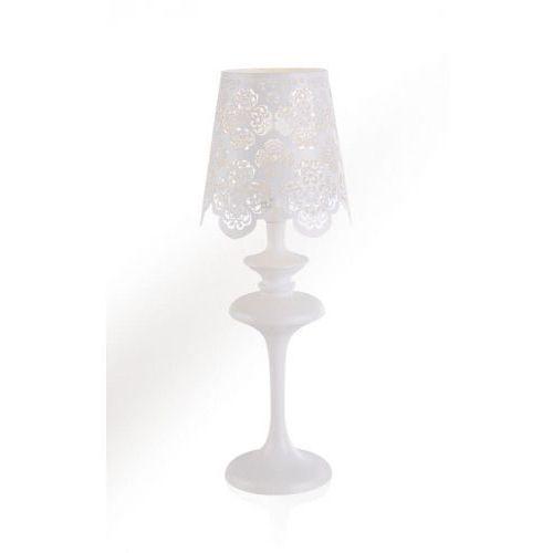 Italux Lampa stołowa arianna ma2386b white lampka 1x40w e14 biała