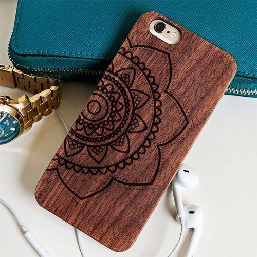 Mandala - Drewniana Obudowa - Wiśnia - iPhone 6/6s - produkt z kategorii- Obudowy do telefonów