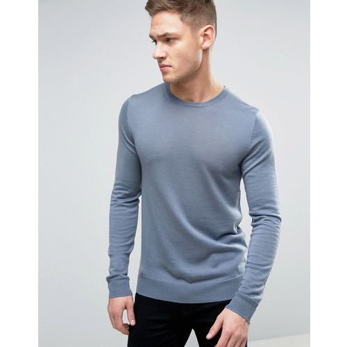 Jack & Jones Premium 100% Merino Wool Jumper - Blue