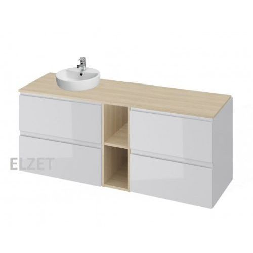 Cersanit szafka moduo szary połysk pod umywalkę nablatową + komoda + moduł otwarty + blat 140 s929-009+k116-022+k116-020+s590-027
