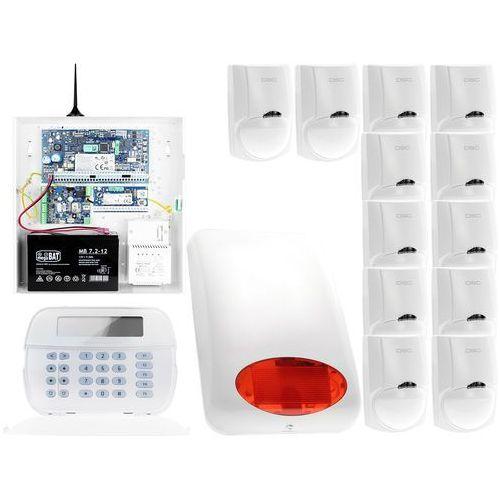 Dsc Za12551 zestaw alarmowy 12x czujnik ruchu manipulator lcd powiadomienie gsm