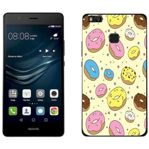Huawei p9 lite 2017 - etui na telefon - kolekcja boho - donaty na żółtym tle - j66 marki Zolti