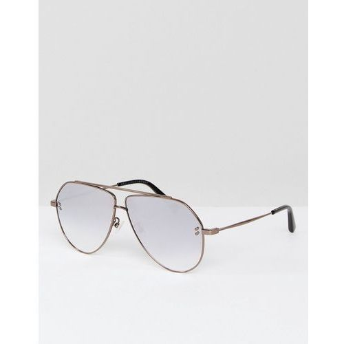 Stella mccartney sc0063s aviator sunglasses in silver 60mm - silver