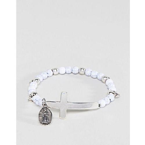 Icon Brand White Beaded Bracelet With Cross Exclusive To ASOS - White
