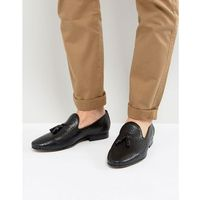 harry leather tassel loafers - black, Walk london