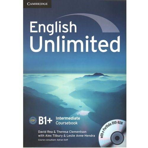 English Unlimited Intermediate CourseBook w/e-portofolio /DVD gratis/
