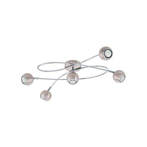 Plafon locanda 94251 lampa sufitowa 5x3w gu10 led chrom / nikiel mat marki Eglo