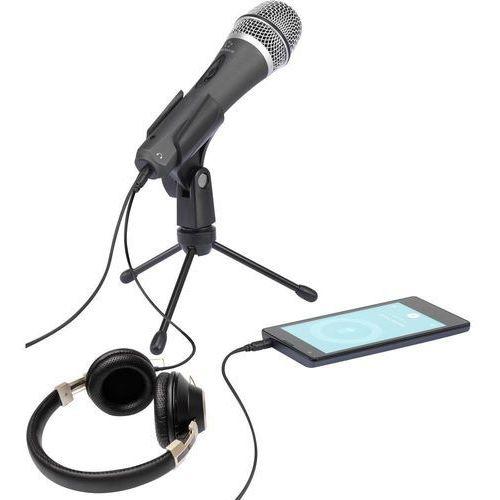 Mikrofon PC Renkforce, Komunikacja: Przewodowa, z klipsem, przełącznik z kategorii Mikrofony