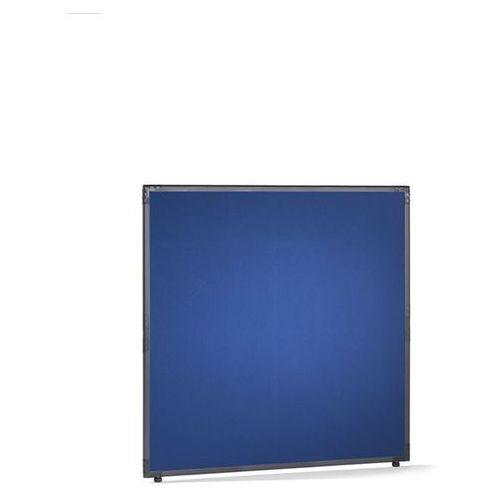 Ścianka działowa, filc, rama w kolorze szarym łupkowym, niebieski, wys. x szer. marki Clipper system srl