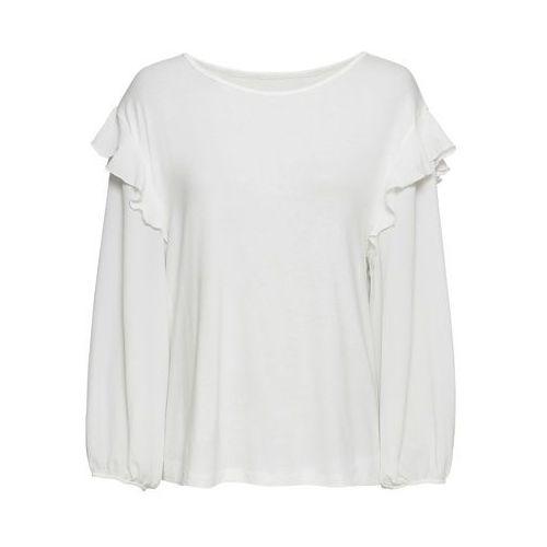 Shirt z przędzy mieszankowej, długi rękaw niebieski dżins z nadrukiem, Bonprix, 32-58