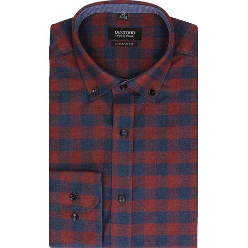 Koszula bexley f2483 długi rękaw custom fit bordo marki Recman