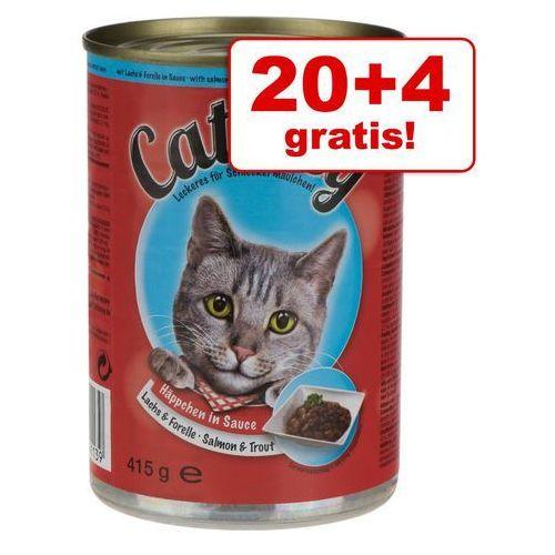 Catessy kawałeczki w sosie, 12 x 415 g - Wołowina i wątróbka w sosie (karma dla kotów)