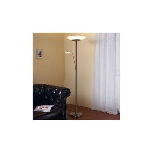 Lampenwelt Ragna - lampa stojąca led z wbudowaną lampką, kategoria: lampy stojące