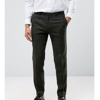 Heart & Dagger Skinny Trousers in Texture With Turn Up - Green