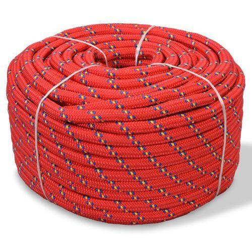 Vidaxl linka żeglarska z polipropylenu, 12 mm, 50 m, czerwona (8718475559382)