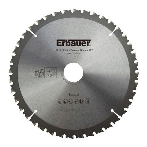 Tarcza uniwersalna Erbauer 210 x 30/25/20/16 mm 40T (3663602812722)