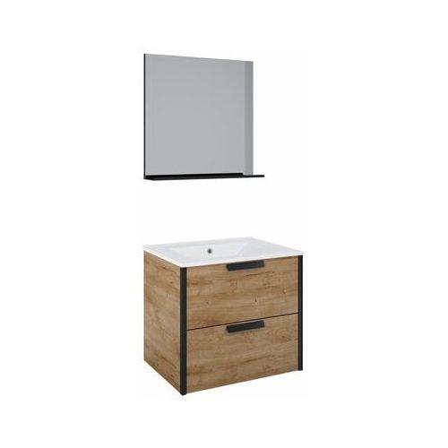 Sensea Zestaw szafka z umywalką loft canela 60